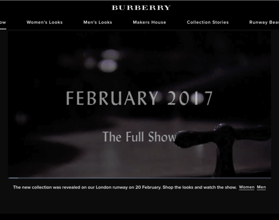 layout burberry