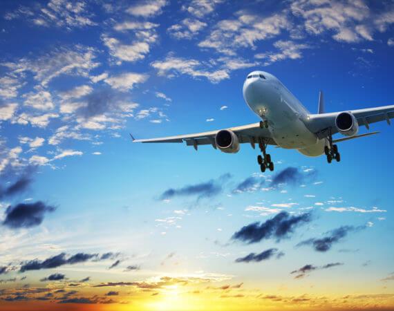avião em vôo